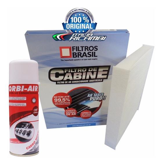 Filtro Ar Condicionado Cabine + Higienizador Siena Até 2012