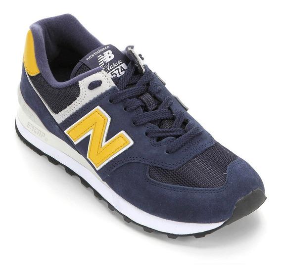 Tênis New Balance Ml574smb Masculino Marinho/amarelo