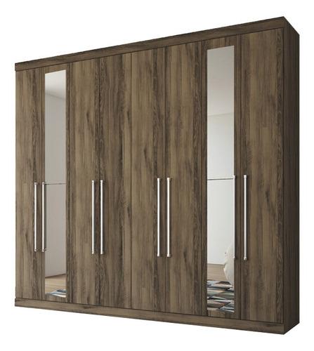 Imagen 1 de 5 de Ropero Placares Master Vip 8 Puertas 8 Estantes Con Espejo