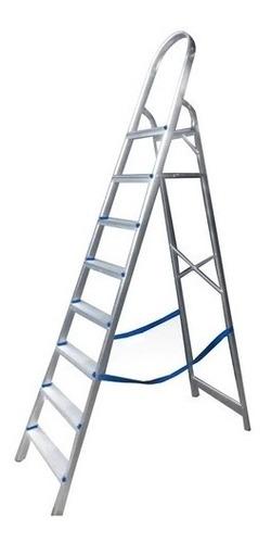 Escada Domestica 8 Degraus Em Aluminio Real Escadas