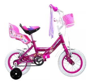 Bicicleta Nena Rodado 12 Top Mega Princess