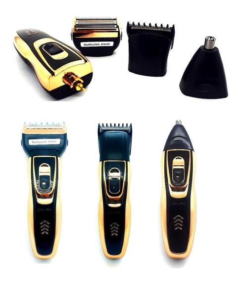 Kit 5 Máquina De Barbear, Barbeador Elétrico, Aparador De Pelos, Maquina De Cortar Cabelo 3 Em 1 Daling