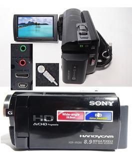 Filmadora Sony Hdr-xr260v Entrada Microfone Hd 160gb