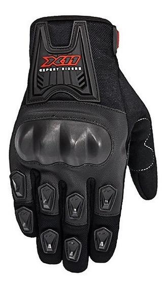 Luva X11 Motociclista Blackout Verão C/ Proteção - Original