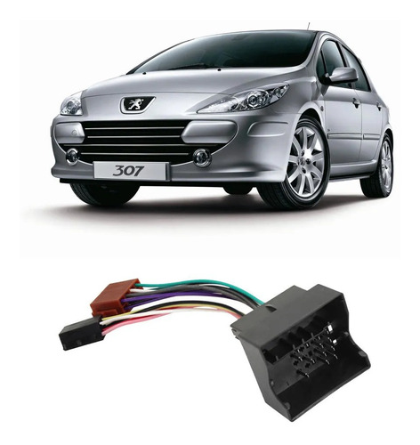 Plug Adaptador De Rádio/cd Com Chicote Peugeot Citroen