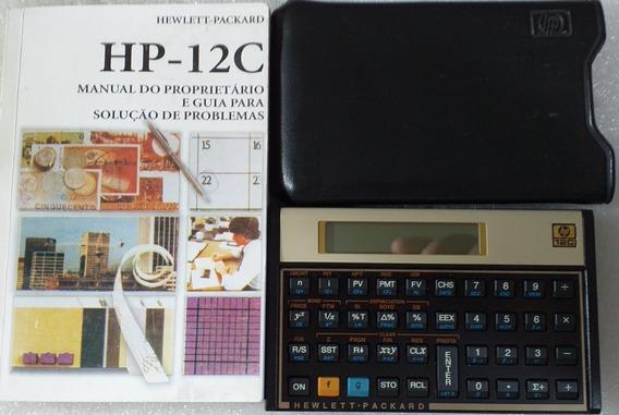 Calculadora Hp12c Gold Novíssima S/ Uso C/ Manual+capa