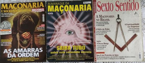 Lote Revistas Maçonaria - 3 Edições