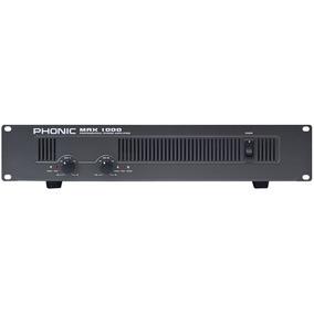 Amplificador De Potencia Max 1000 Plus, 600 Watts, Phonic