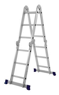 Escada Multifuncional 4x3 Alumínio 12 Degraus Dobrável 5131