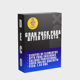 Pack After Effects Títulos, Partículas, Producción De Videos