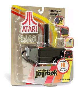 Atari 2600 Plug And Play Joystick Incluye 10 Juegos Replay