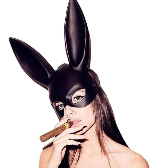 Mascara Antifas Halloween Disfraz Orejas De Conejo Sexy