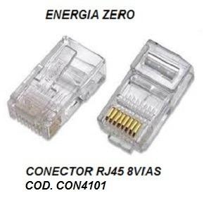 Conector Rj45 8vias Pac 10pecs Cod. Con4101 Frete Cr