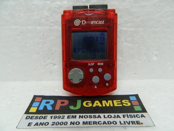 Vmu Memory Card Original Vermelho P/ Dreamcast - Loja Rj
