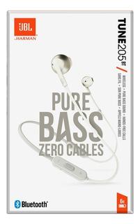Jbl Audiophonos Tune 205 Bt Bluetooth Harmon 100% Original