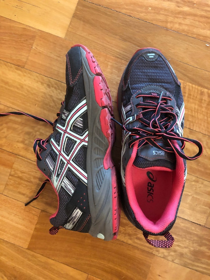 Zapatillas Asics Mujer Talle Us 8 Cm 25 - Impecables