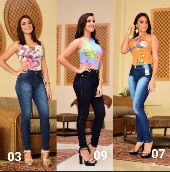 Kit 4calças Jeans Calças Jeans Feminina