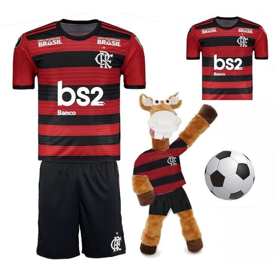 Flamengo Infantil + Camisa Adulto + Cavalinho + Bola