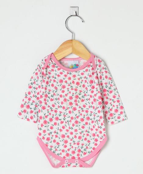 Body Bebê Menina Em Poliviscose Estampado