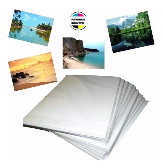 Papel Foto Glossy 130g A4 Brilho 400 Folhas Premium Brilho