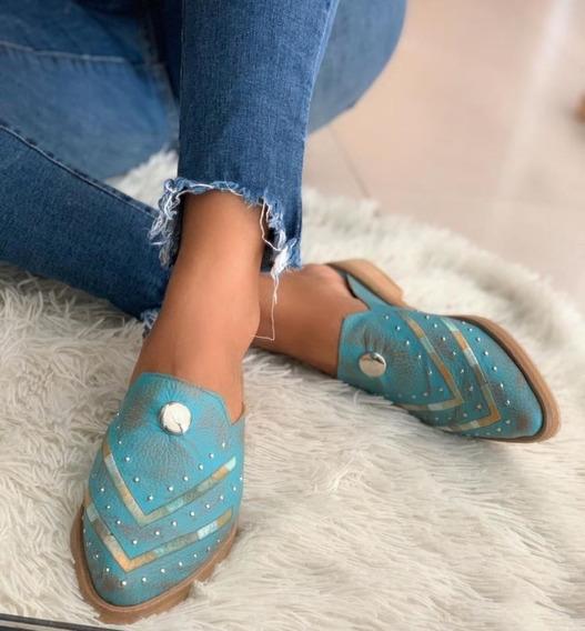 Zapatos De Cuero Raspado