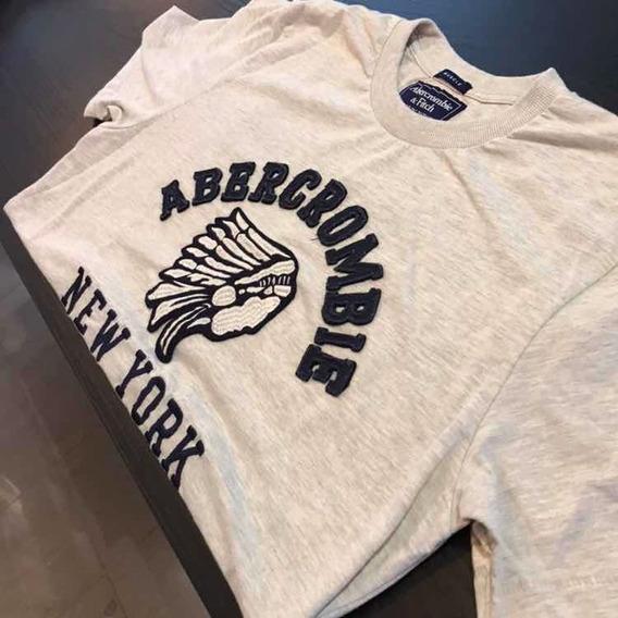 Camiseta Abercrombie Cinza Mescla Original