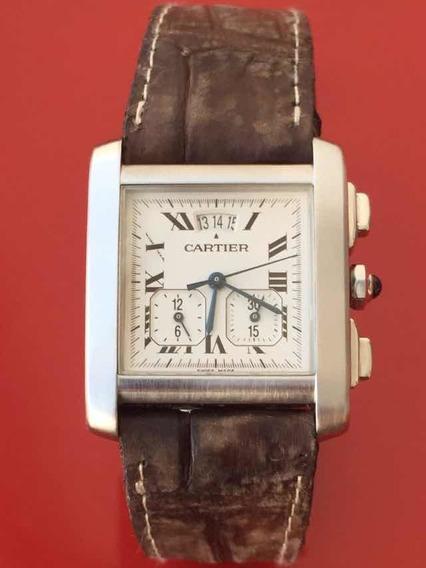 Reloj Cartier Tank Francaise Chrono Ref. 2531 No Rolex Omega
