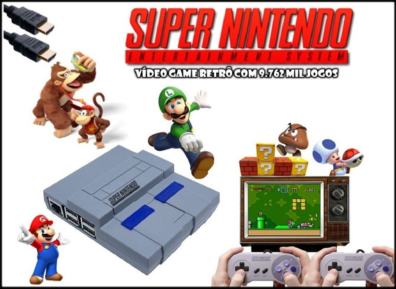 Super Nintendo Mini 9 Mil Jogos 2 Controles Envio Imediato!