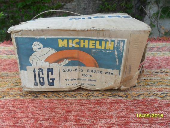 Antigua Cámara Auto Michelin Sin Uso En Su Caja Original
