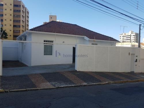 Casa Com 1 Dormitório Para Alugar, 140 M² Por R$ 4.500,00 - Vila Itapura - Campinas/sp - Ca2174