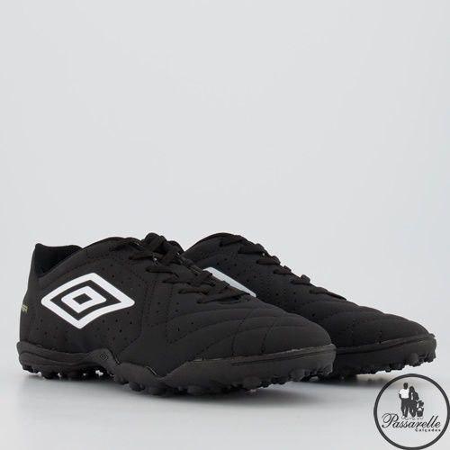 Chuteira Society Umbro Soccer Shoes Striker 71120 - Preto