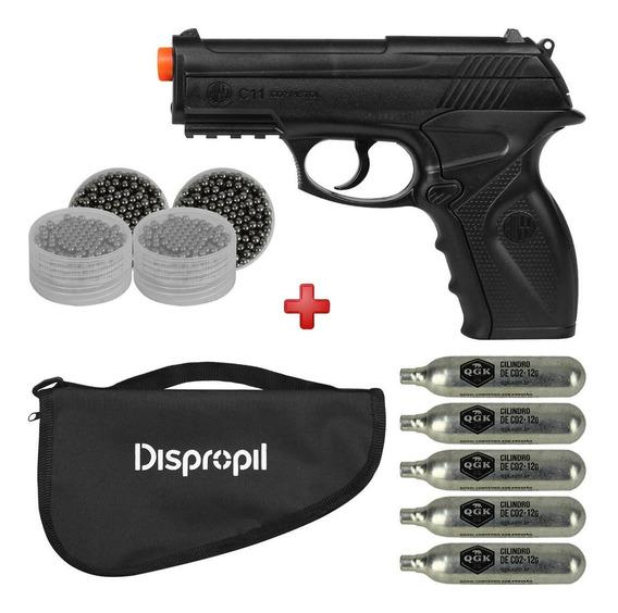 Airsoft Pistola De Co2 Win Gun C11 6.0 Barato + Esferas Aço
