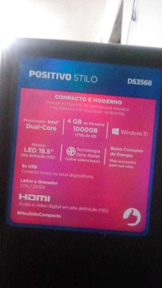Computador Positivo Stilo Ds3568 Celeron 4gb Hd 1tb + Wi-fi