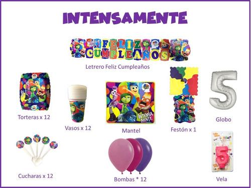 Imagen 1 de 1 de Kit Decoración Celebra Encasa Fiesta Cumpleaños Intensamente