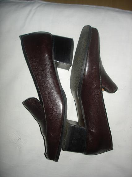 Zapato De Vestir Marron Impecable / No Envío