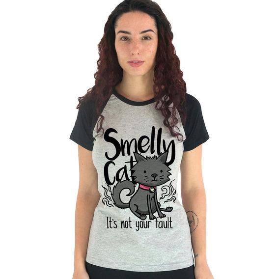 Camiseta Babylook Smelly Cat Friends Joey Gatos Phoebe Ross