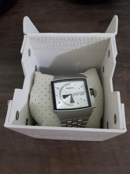 Relógio Diesel Dz-1284 Original Com Caixa Em Couro Branco
