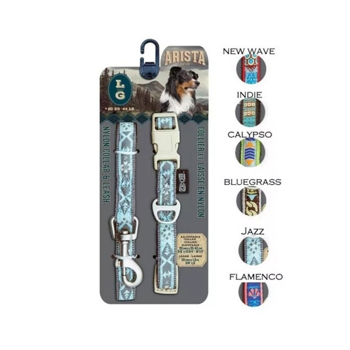 Imagen 1 de 5 de Set Collar Con Correa Diseños Arista Zeus, Talla L + Envío!