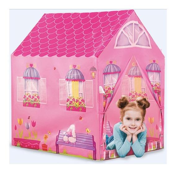 Casinha Barraca Rosa Infantil Tenda Toca Leitura Dm Toys