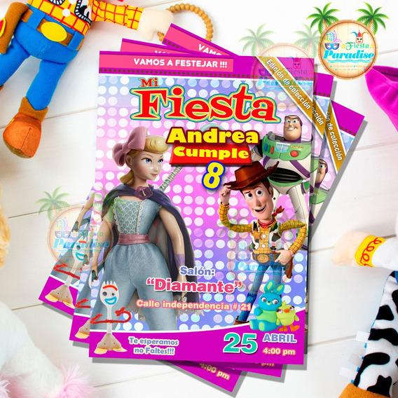 Invitacion Digital Tipo Revista Toy Story Personalizada