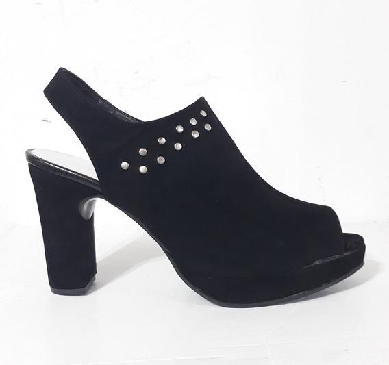 Huma10 Zapato Zueco B/p Talles Grandes Mujer Negro