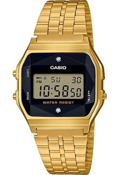Reloj Casio Vintage Digital Dorado Diamante A159wged-1vt