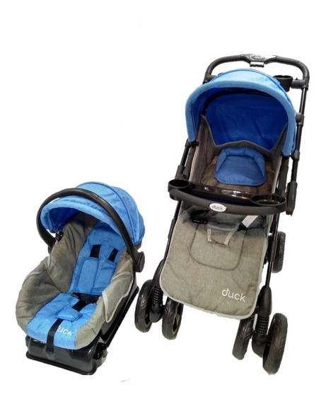 Coche Pariggi Travel System Huevito + Base Y Cubrepies Duck