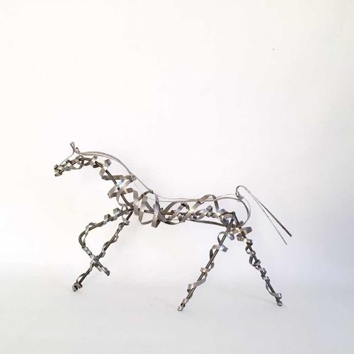 Esculturas De Caballos De Hierro (30cm) - Arte Y Decoración