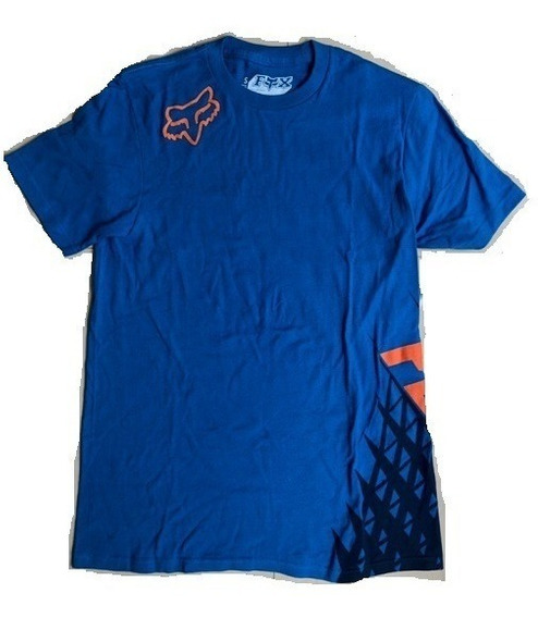 Playera Fox Racing Given Ss Men Original Algodon Blue