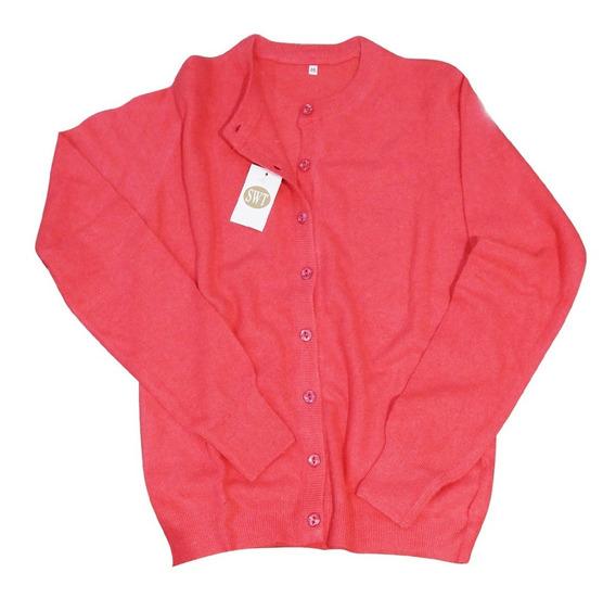 Sweater Saco Cardigan Botones Dama Bremer Lana Y Angora