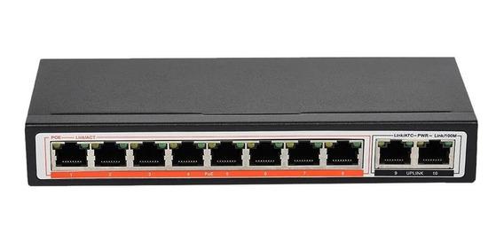 Switch Poe 10 Bocas 8 Puertos + 2 Uplink 10 100 Mbps Speed