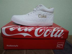 Tenis Coca-cola Shoes Valencia Matelasse, Branco, Tamanho 38