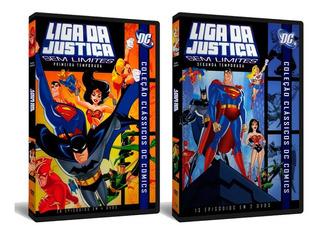 Dvd Liga Da Justiça Sem Limites 1ª E 2ª Temporadas