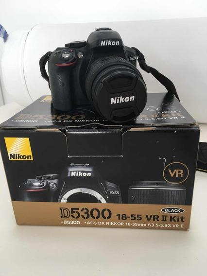Nikon D5300 Lente Dx 18-55 Vr Il +wi-fi + Cartão 32 Gb